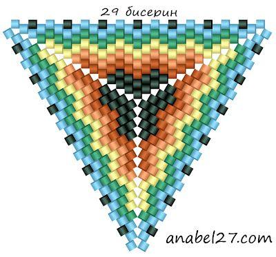Esquemas triángulos - el mosaico malla 9 | - Planes de abalorios / patrones del grano Gratis -