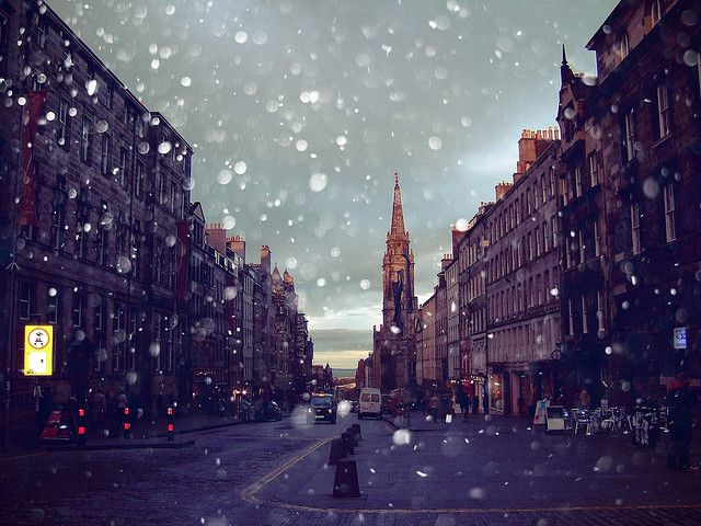 Edinburgh, Scotland: Edinburgh Scotland, I Miss You, Cities Photography, Inspiration Photography, Snow, Inspiration Pictures, London Style, Quotes Life, Quotes About Life
