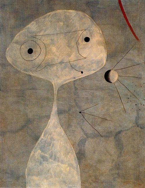 Joan Miro - The bird and the moonlight, 1949