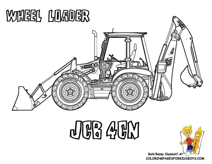 Digging Free Construction Coloring Pages