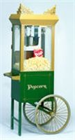 Gold Medal's Antique Gold Deluxe Sixty Special with Green Cart, #2659HG.  $999 for combo at Popcorn Supply