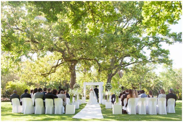 Wedding at Nooitgedacht, Outdoor ceremony, Garden ceremony