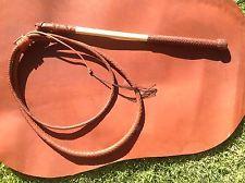 Stock whip, 6'x 8 plait kangaroo hide 'Will Dargan whips' stockwhip