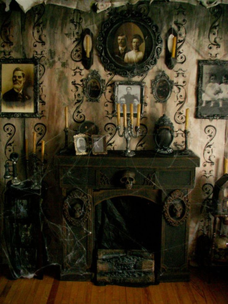 Scary But Classy Halloween Fireplace Decoration Ideas 70