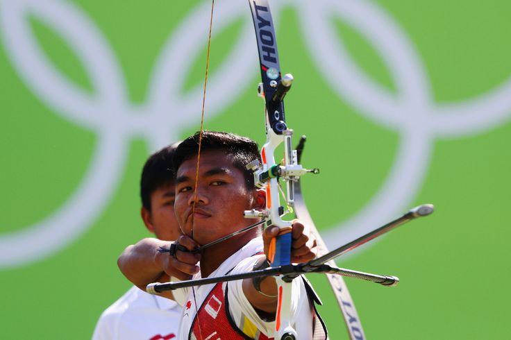 Day 1: Archery Men's Team - Hendra Purnama of Team Indonesia
