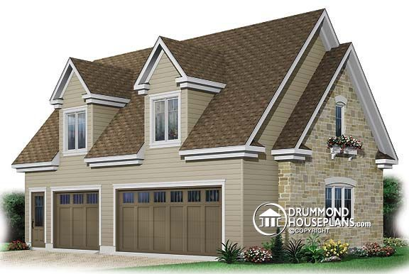 Garage plan w3980 garage plans garage designs with for Garage apartment plans canada