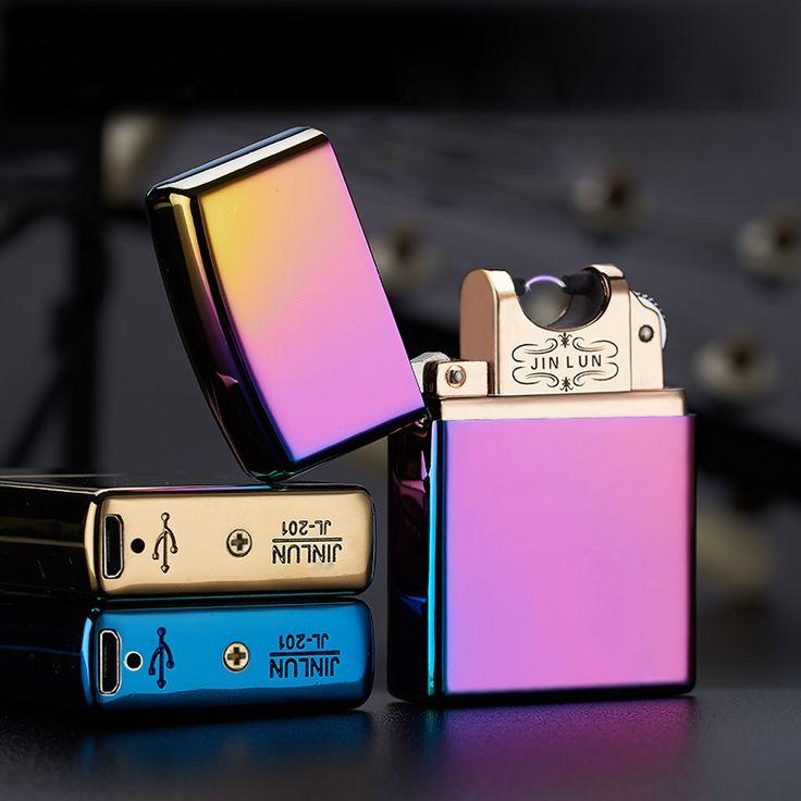 Электронная Сигарета зажигалка Импульсно Дуговой Тонкий Ветрозащитный прикуривателя USB Аккумуляторная Беспламенного Электрической Дуги Для Прикуривателя купить на AliExpress