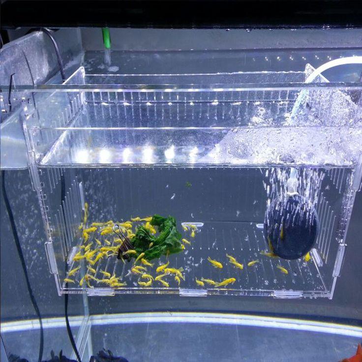Acrylic aquarium isolated cases/Aquarium supplies fish breeding boxes simple lattice with cover