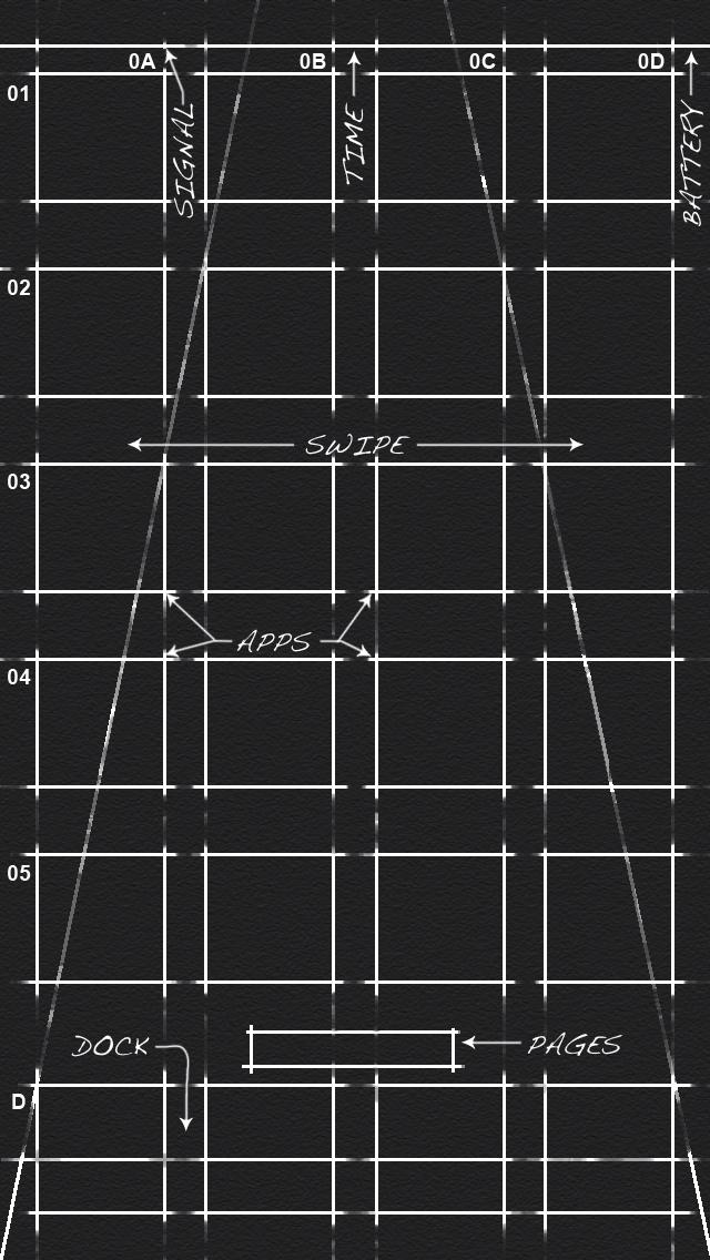 Monochrome Blueprint For Home Screens