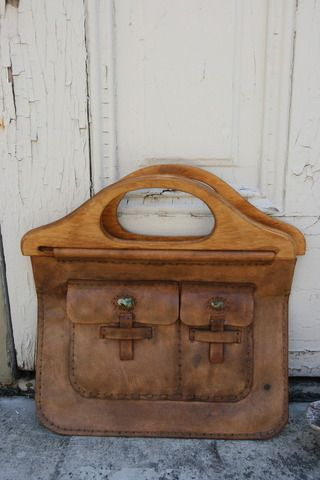Vintage Handmade Leather Purse. This would be so awesome school bag!