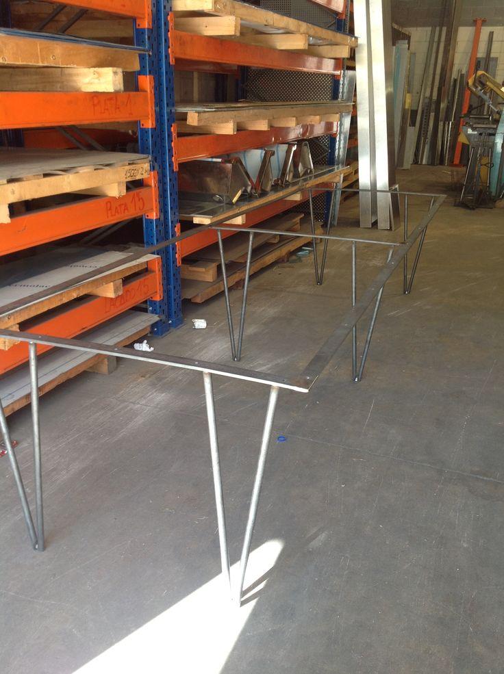 Estructura para mesa en pasamano de hierro y varilla - Estructuras para mesas ...