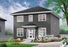 Aménagement intérieur  Plan de maison no. W3716 de dessinsdrummond.com