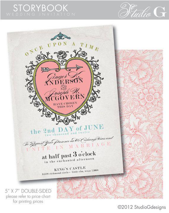 STORYBOOK Fairytale Wedding Invitation   Printable Wedding Invitation
