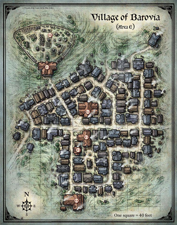 D&D Village of Barovia Map