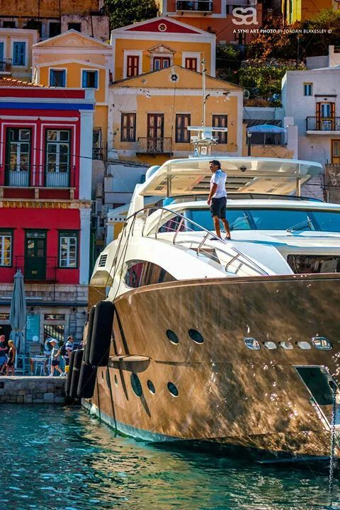 Docking in Symi, Greece