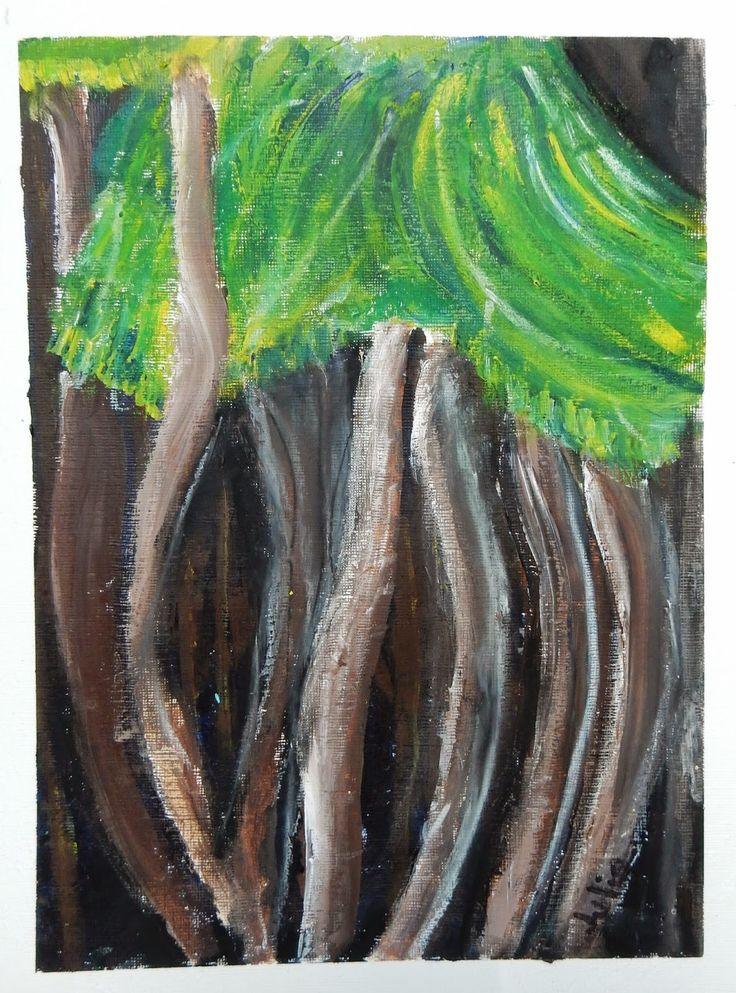 Doodlebug Dabblings: A day in the woods Emily Carr inspired acrylic