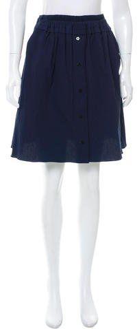 Carven Printed Seersucker Skirt w/ Tags