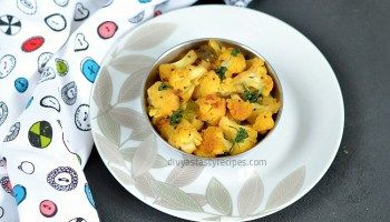 Cauliflower Poriyal, Cauliflower Stir Fry, South Indian style cauliflower stir fry