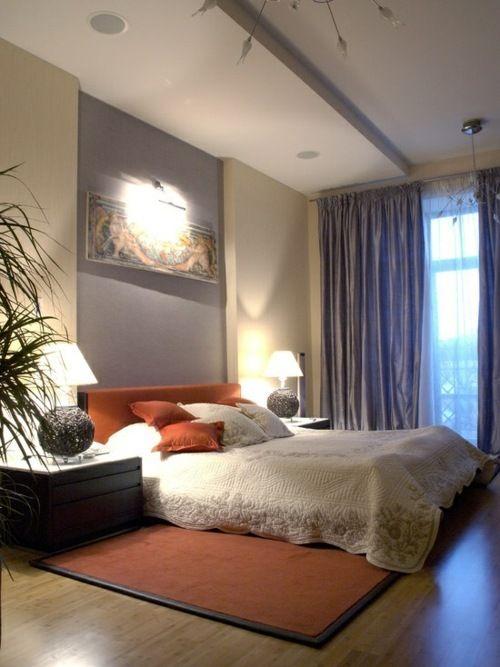 Das orange Schlafzimmer in 42 Beispielen Quarto mammy Pinterest - wandfarbe wohnzimmer beispiele