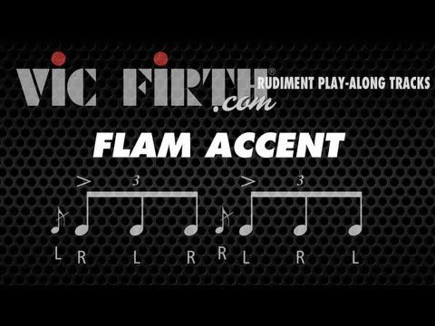 Flam Accent: Vic Firth Rudiment Playalong - YouTube