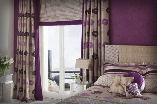 Pairing roman shades with curtain