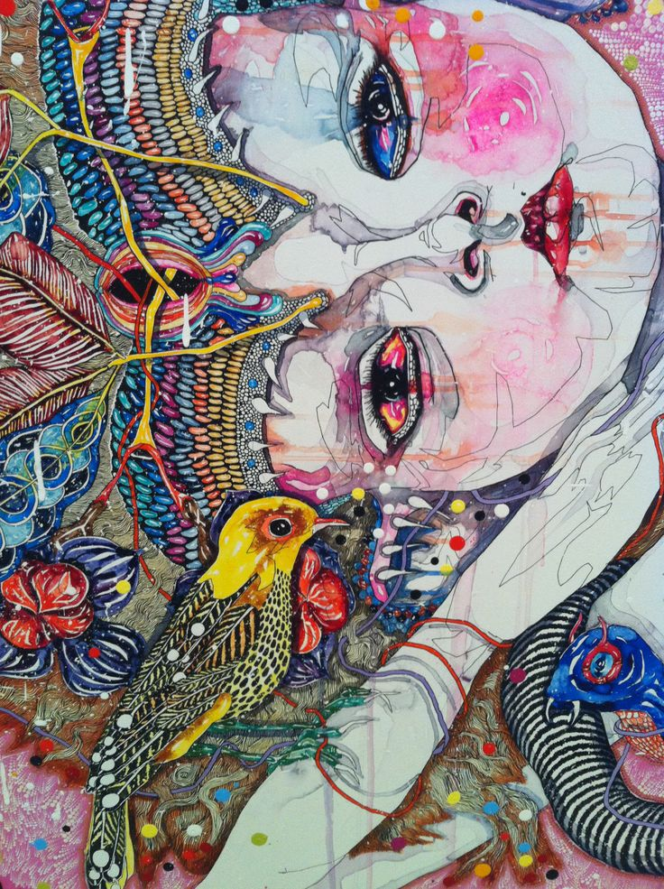 Come Of Things (close up) By Del Kathryn Barton Art Gallery NSW