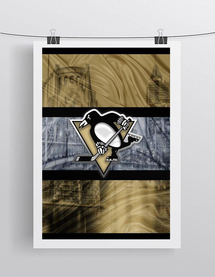 Pittsburgh Penguins Poster, Pittsburgh Penguins Hockey Gift, Pens Art, Penguins