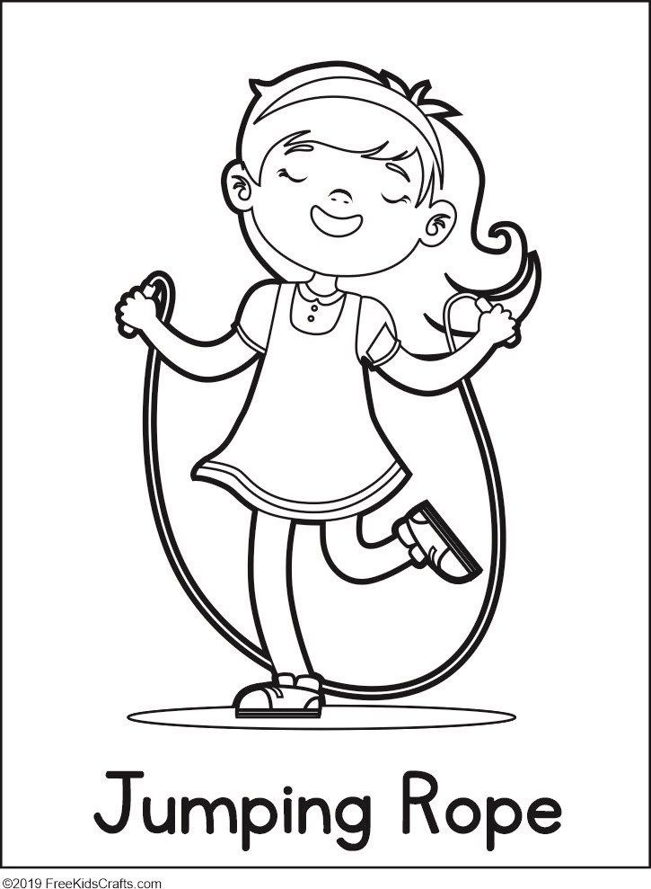 Image Of Physical Activity Coloring Pages Physical Activities For Preschoolers Physical Activities Coloring Pages