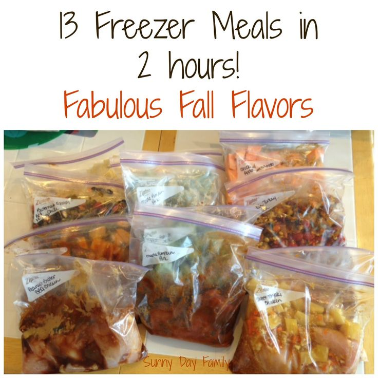 13 Freezer Meals in 2 hours! Family friendly slow cooker recipes with Fall flavors like Pumpkin Maple Pulled Pork. Yum! {Sunny Day Family}