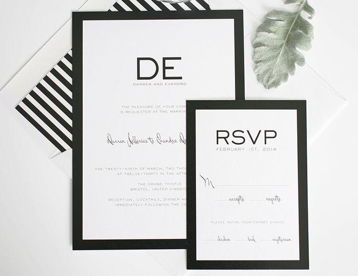Black And White Stripe Wedding Inspiration