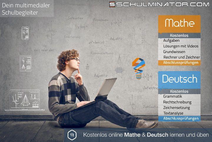 Online Deutsch und Mathe lernen und üben mit Schulminator.com