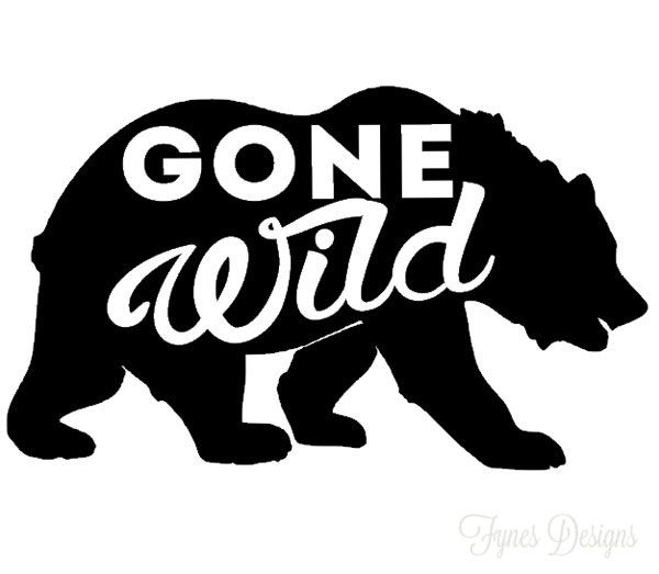 FREE Gone Wild Silhouette cut files for Camper decals- use as bumper stickers, on the window/ doors or even on the cooler!