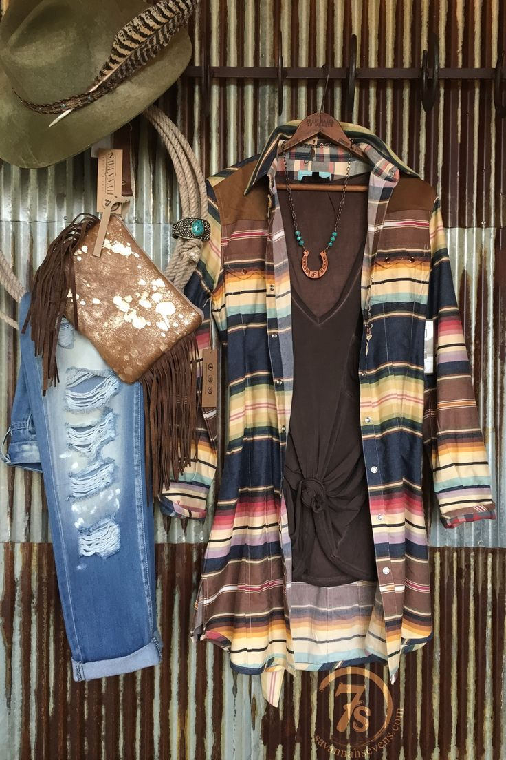 - Red and earth tone serape pearl snap dress/duster - Front ruffle detail - Suede front yokes - Suede elbow patches - Tortoise shell button pearl snaps - Double yoke pockets - Great quality material -
