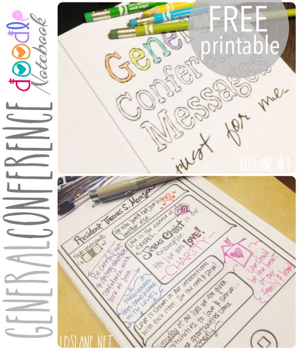 Free Printable - General Conference Doodle Book
