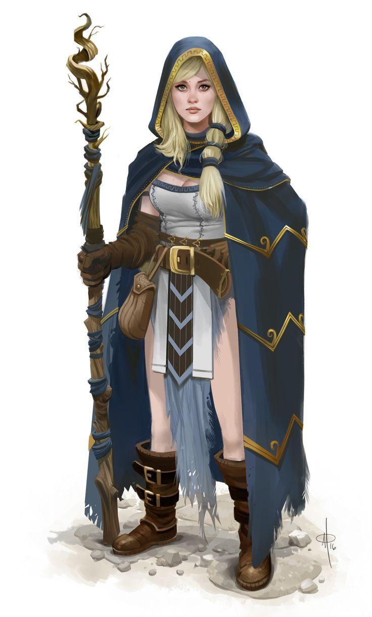 ArtStation - Sorceress Y'Tira, Matt Olson