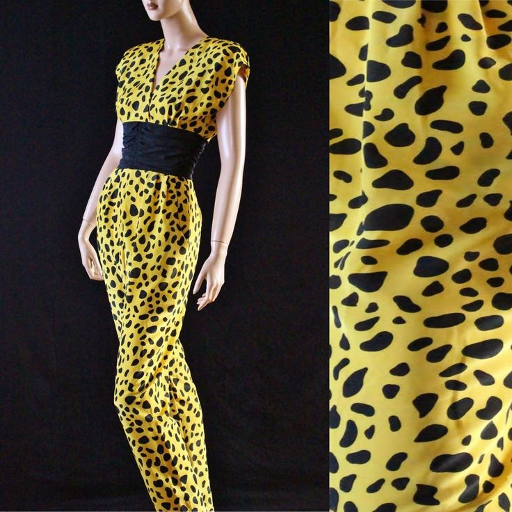 Vintage 80s PUNK New Wave FUNKY Bold Animal Print Jumpsuit Party Pants Playsuit  #VIVIANSCalifornia #Jumpsuit #Clubwear