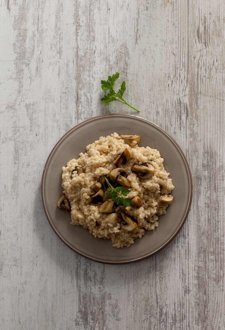 Mushroom-cheese risotto