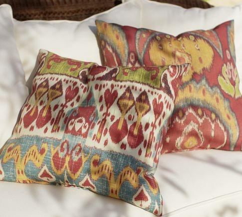 ikat multicolor outdoor pillow pottery barn. Black Bedroom Furniture Sets. Home Design Ideas