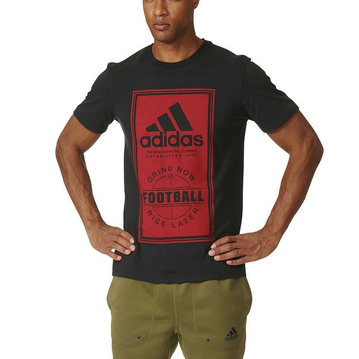 Big & Tall Adidas Football Performance Tee, Men's, Size: Xl Tall, Black