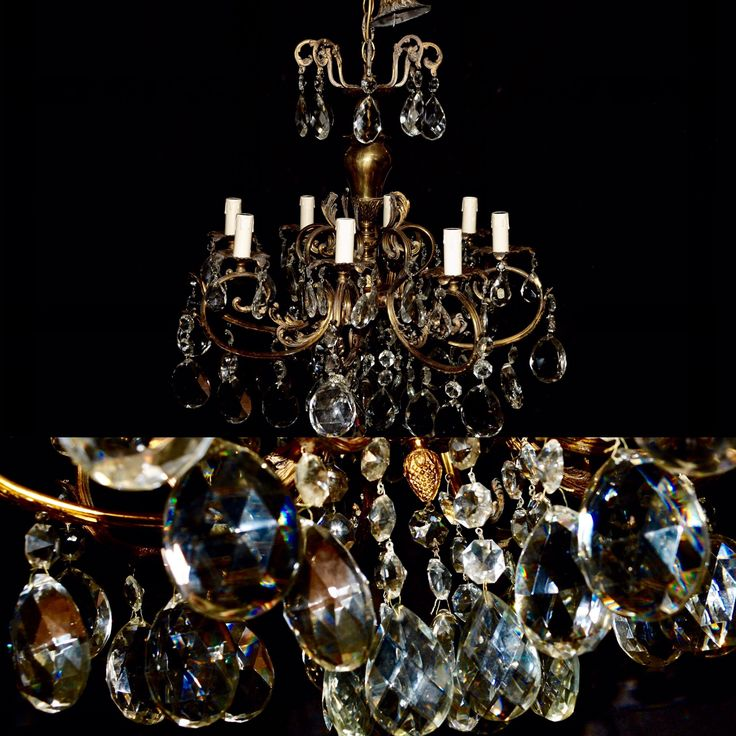 Gilted Italian chandelier