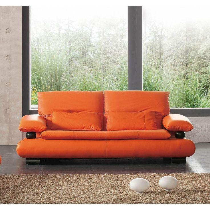 Best 25+ Orange Leather Sofas Ideas On Pinterest