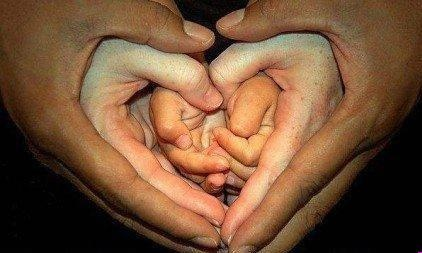 Father, Mother, Child... Hands of Love
