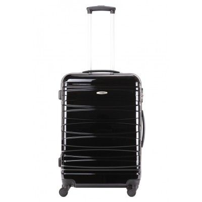 Valise rigide TEKMi MAX : 65cm - 100% polycarbonate - Noir