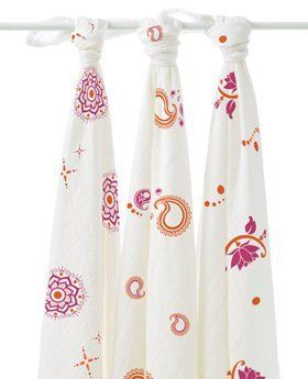 """aden + anais Boutique Muslin Swaddle Wraps 3-Pack - Pyara-One Size by aden + anais. $38.60. Measures 47"""" X 47"""". muslin. newborn & up. Soft rayon fabric made from bamboo fiber allow baby's body temperature to adjust naturally ensuring warmth and comfort. Machine Wash / Dry. The more you wash your wraps, the softer they get.. aden + anais BoutiqueMuslin Swaddle Wraps 3-Pack - Pyaraaden + anais Boutique Boutique' world-famous soft swaddles are now even softer with bamboo rayons..."""