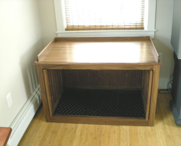 Double Dog Crate With Window Seat Top Dogs Pinterest