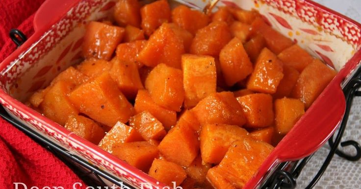 Sweet potatoes baked in a spiced, sugar syrup.  Candied Yams     We eat a lot of sweet potatoes here in the Deep South, and especially in ...