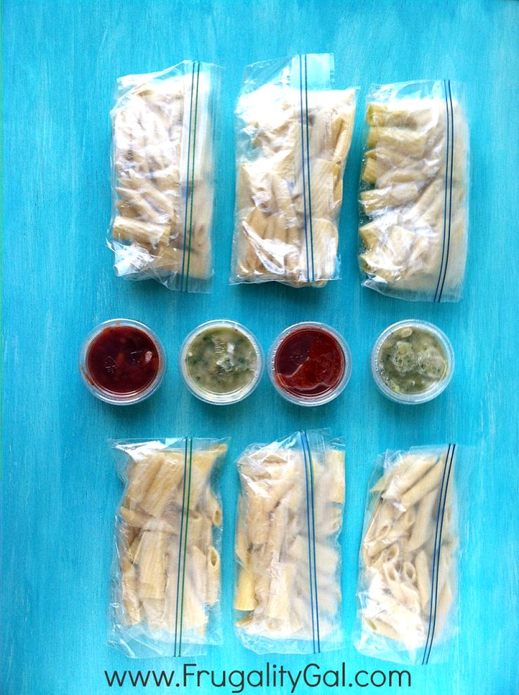 13. Microwavable Pasta Lunch Packets #freezermeals #frozenfood http://greatist.com/eat/healthy-freezer-meals