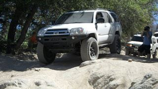 DeMello Off-Road's 2003-2009 4runner bumper is made with mild steal and designed to offer high clearance and maximum strength while maintaining a light weight option for the front of your 03-05 4runner.  DeMello Off Road bumpers are made with a 1/4in winch plate and bumper frame wrapped in 1/8in steal skin providing strength and durability at a lower weight than many competitors.   03-05 Bumpers come with LED turn signal replacements that go in the bumper. Please note that turn indicators…