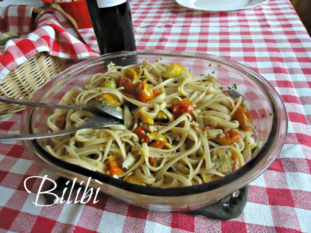 In cucina con Bilibì: Linguine saporite di magro