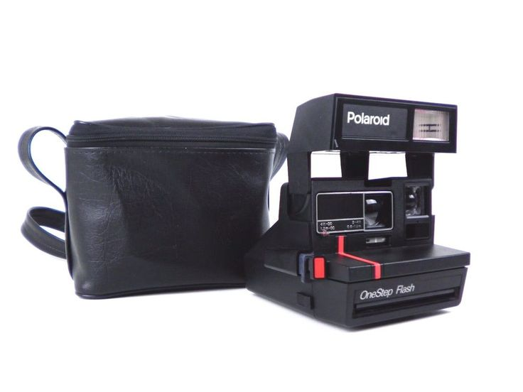 Vintage Polaroid One Step FLASH Red Stripe Instant 600 Film Camera With Free Bag #Polaroid
